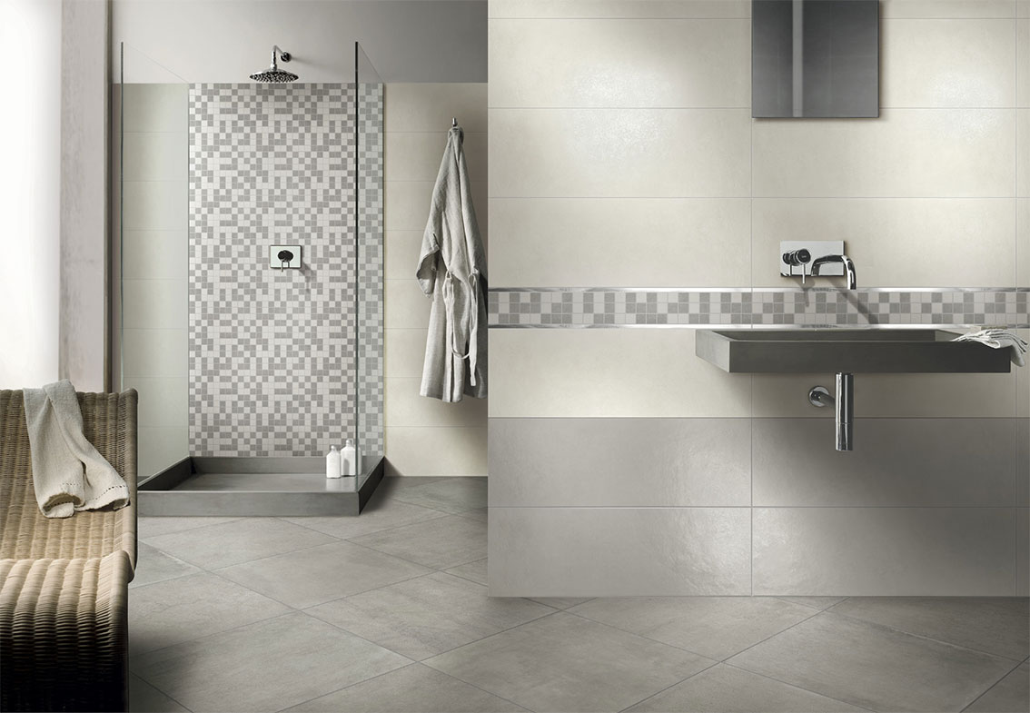 Ceramica arpa puglisi ristrutturazioni for Piastrelle bagno mosaico grigio